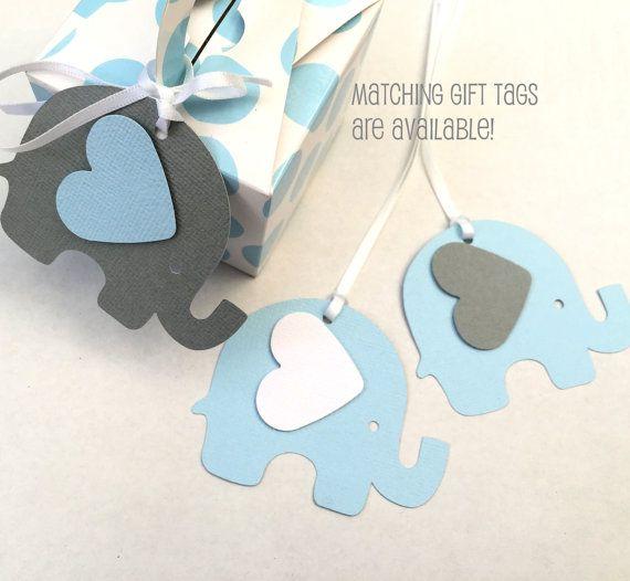 Guirnalda azul y gris elefante. Bebé ducha por MyPaperPlanet