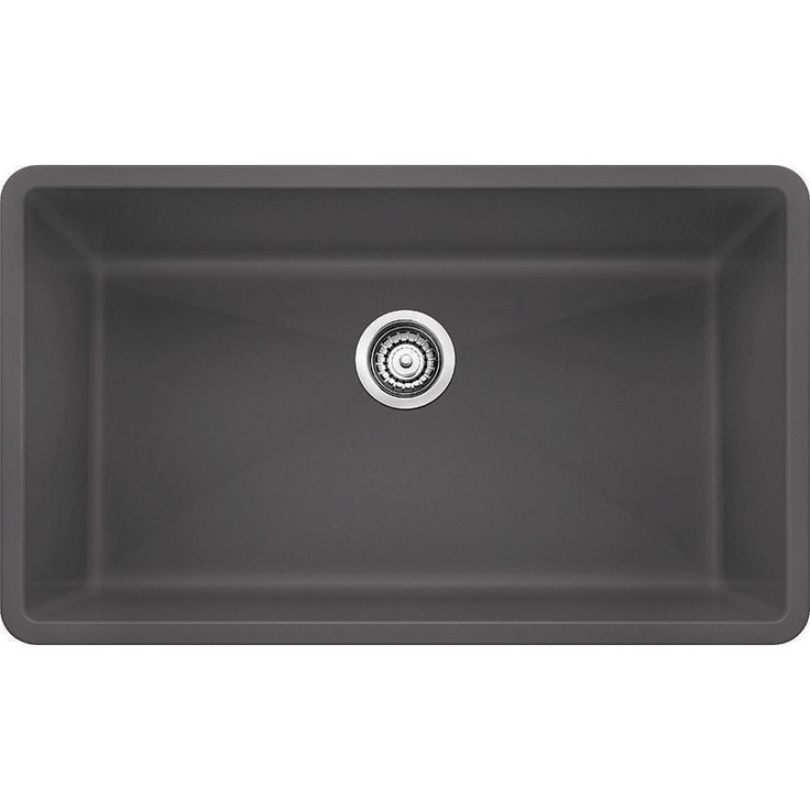 "Granite composite sink: 9 1/2"" deep, 17"" wide and 30"" long"