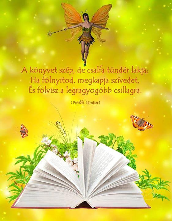Petőfi versrészlete a könyvek erejéről. A kép forrása: Szívügyek: szeretet, szerelem, boldogság, boldogtalanság # Facebook