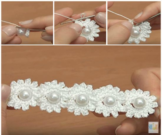 Flower Chain Crochet Pattern Easy Video Tutorial