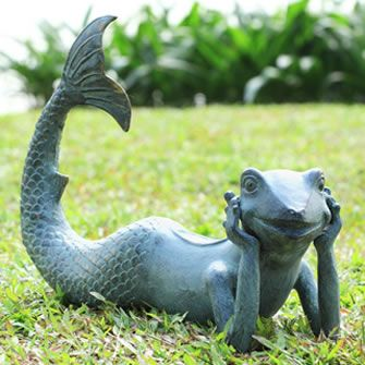Large Mermaid Statues With Beautiful Garden View, All The Statues Are Of  Metal, Stone And Stable.