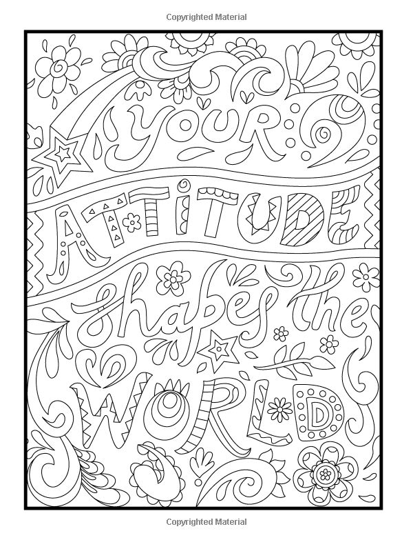 Amazon Com Inspirational Quotes An Adult Coloring Book
