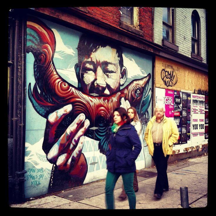 Street art in Toronto. Queen street west.