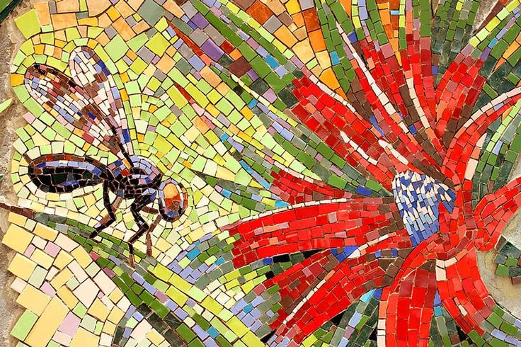 Mosaic work for the 1st International Urban Mosaic Intervention – Municipalidad de Puente Alto in Puente Alto, Metropolitana de Santiago de Chile