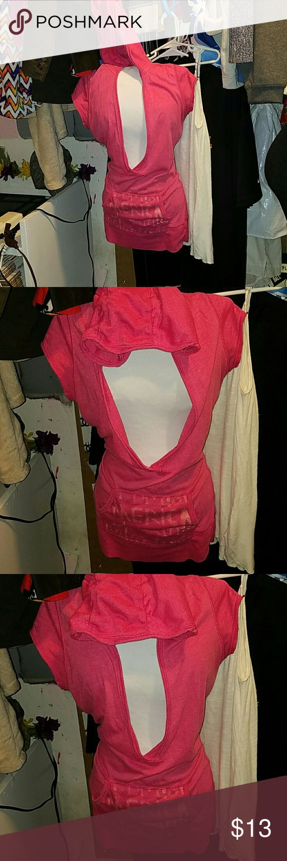 American Eagle outfitters med sleeveless hoodie In excellent condition American Eagle Outfitters medium pink hoodie American Eagle Outfitters Tops Sweatshirts & Hoodies