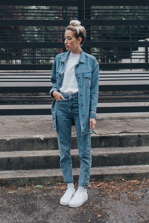 12 maneiras de usar jeans com jeans