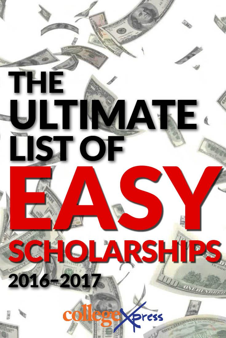 easy college scholarships no essay Quick and easy scholarships - fastweb available to: high school freshmen through college seniors the 'you deserve it' no-essay scholarship from scholarshipowl awards $1,000 and takes only wwwfastwebcom.