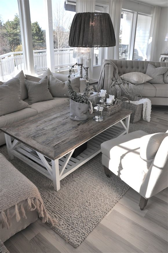 Love this living room  ESP the coffee table For Home Pinterest Living rooms Coffee and Room