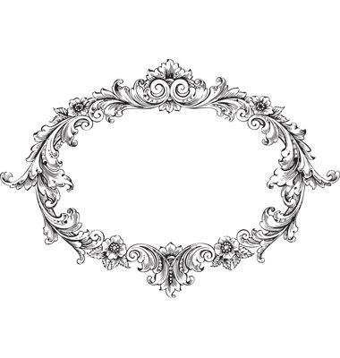 Victorian frame vector 1440052 - by HypnoCreative on VectorStock�