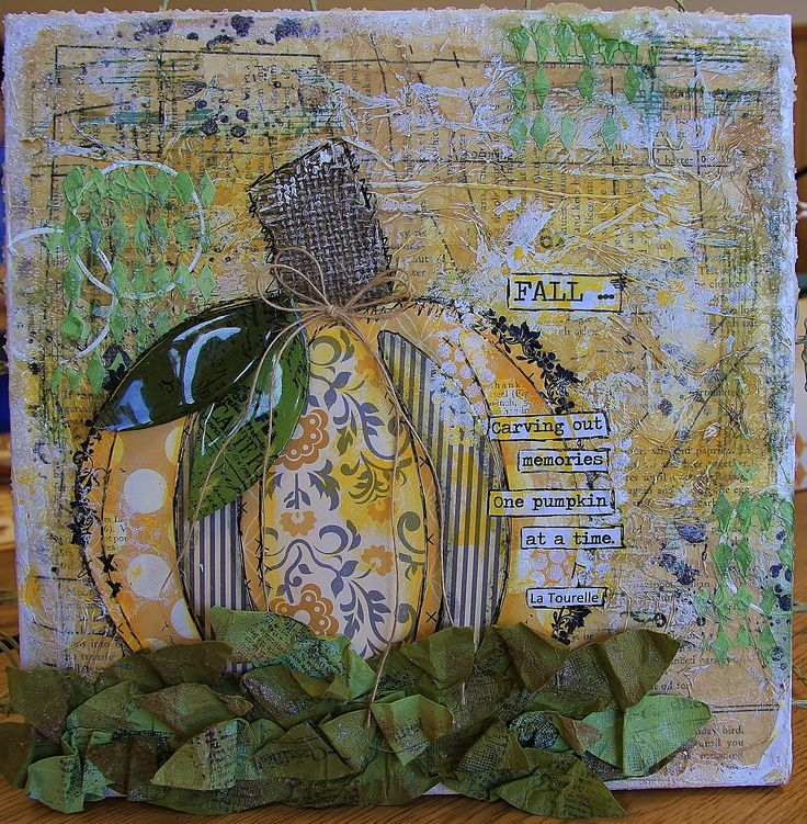 10 x 10 Fall Canvas Class - taught at Right at Home Scrapbooking