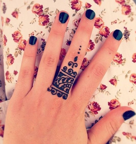 Ring Ceremony Mehndi Design : Awesome henna designs with rings makedes