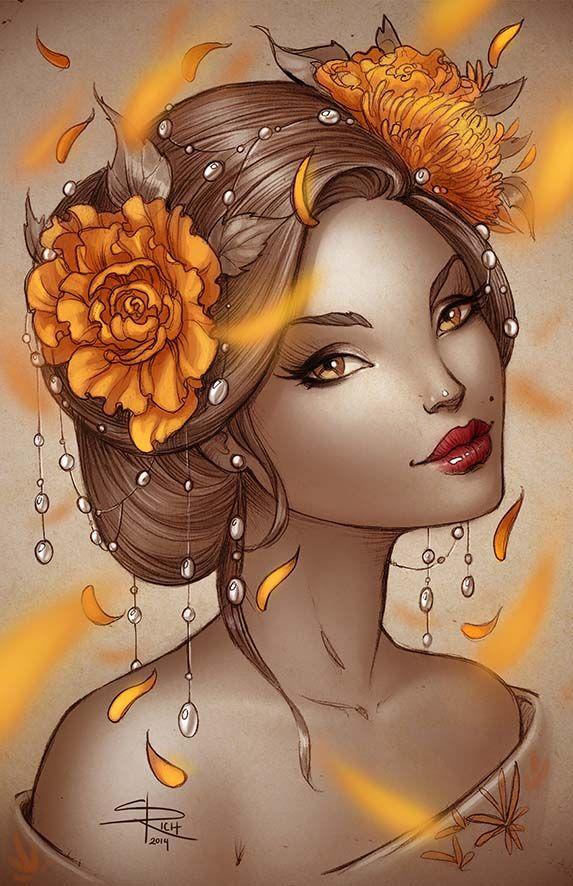 Summer Geisha by Sabinerich on deviantART