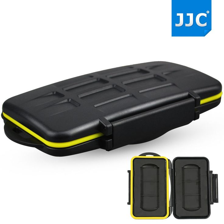 JJC water-resistant Anti-Shock Holder Storage Memory Card Case For 2 SXS Card #JJC
