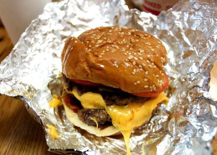 I visit Five Guys Burgers in London