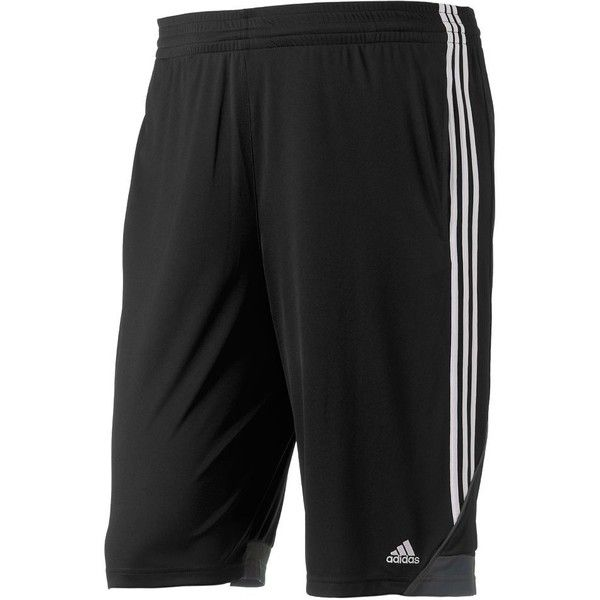 Big & Tall Adidas Climalite 3G Speed Performance Shorts ($33) ❤ liked on Polyvore featuring men's fashion, men's clothing, men's activewear, men's activewear shorts, black, mens activewear shorts and mens activewear
