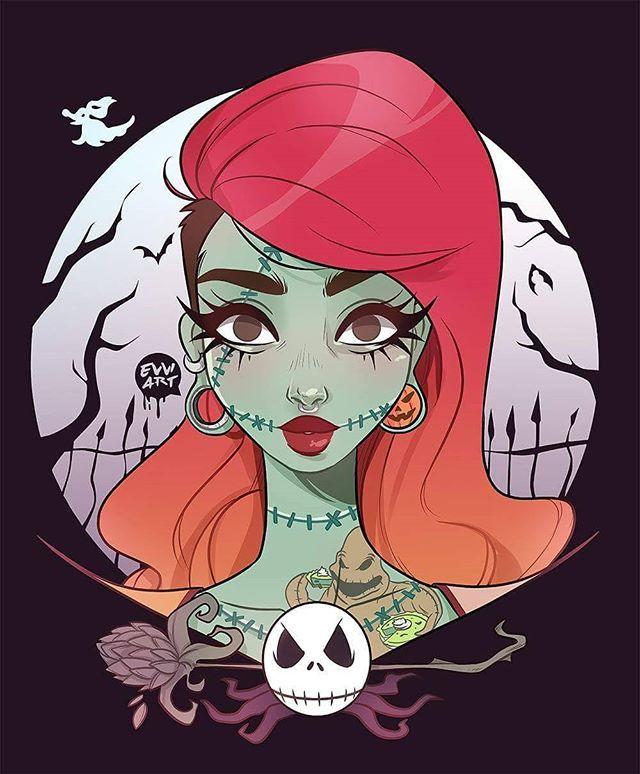 Halloween is coming #halloween #digitalart #illustration #sally #nightmarebeforechristmas #jack