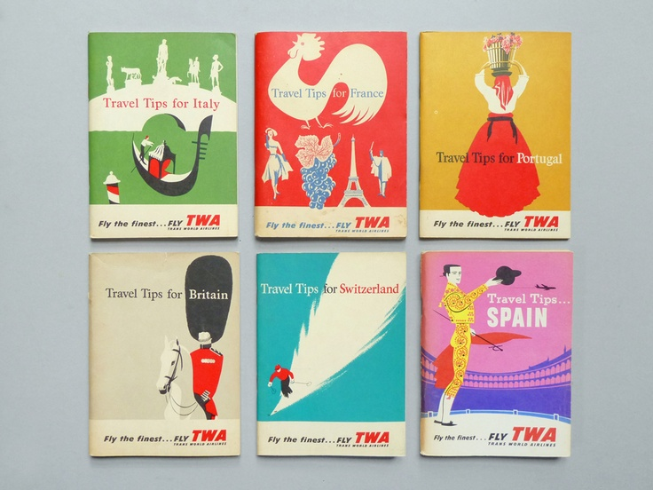 Travel guides. Excellent covers.