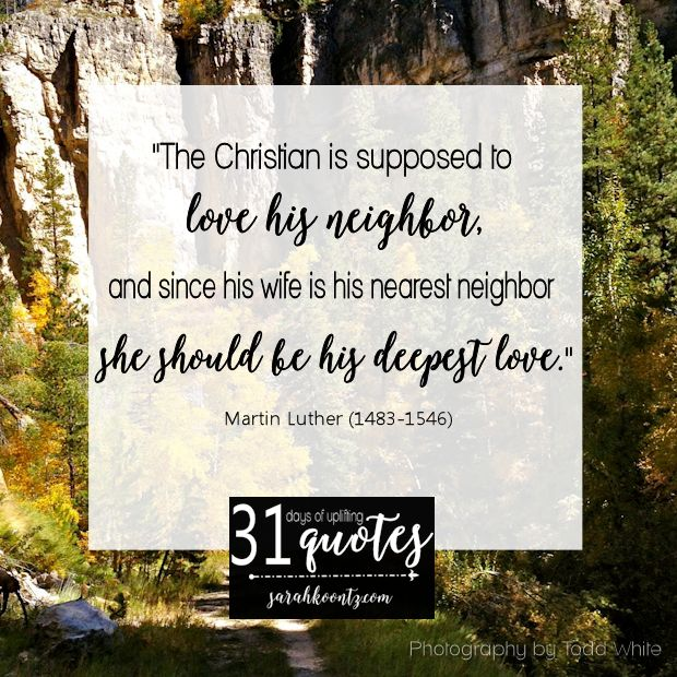 Image result for luther quote on marriage image