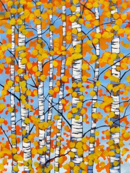 Autumn Yellow Aspens FREE SHIPPING
