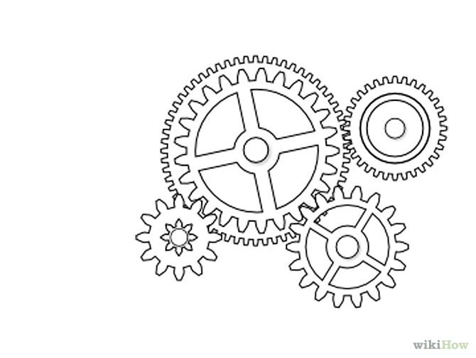 Grandfather Clock Sketch Draw Gears in In...