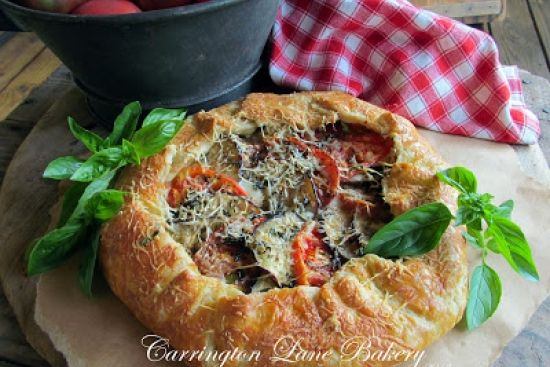Tomato and Eggplant Galette