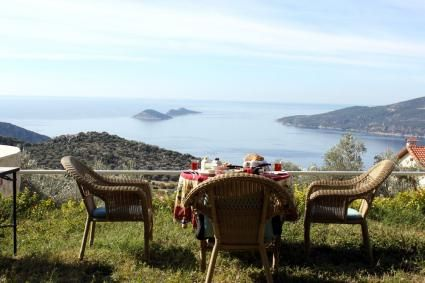 Luxury #Villa Kybele offers a fantastic view of #Kalkan for your next #holiday in #Turkey