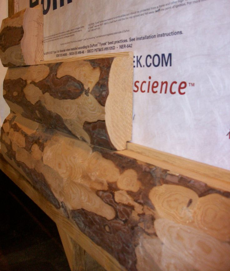 "Log Siding: **** SALE*** 5"" PEELED LOG SIDING (RED PINE) 