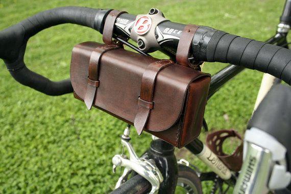 Leather Bike Tool Bag Dark Brown by JepsenLeatherGoods on Etsy