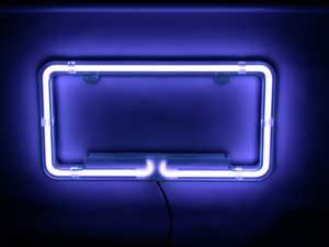 Neon Car Lights, Neon Truck Lights: Plasmaglow Neon and LED Car LightsLED - Plasmaglow Neon License Plate Frame