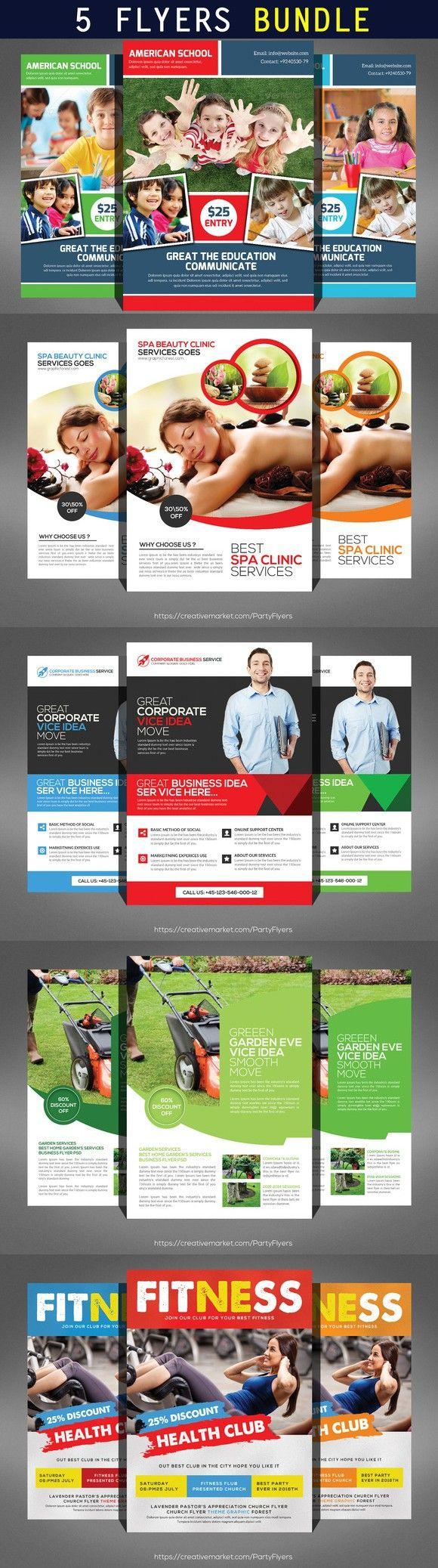 best ideas about flyer creator palimpseste 5 multipurpose corporate flyers