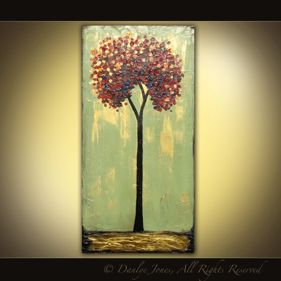 Acrylic Painting of Tree. I am going to make my own version of this!