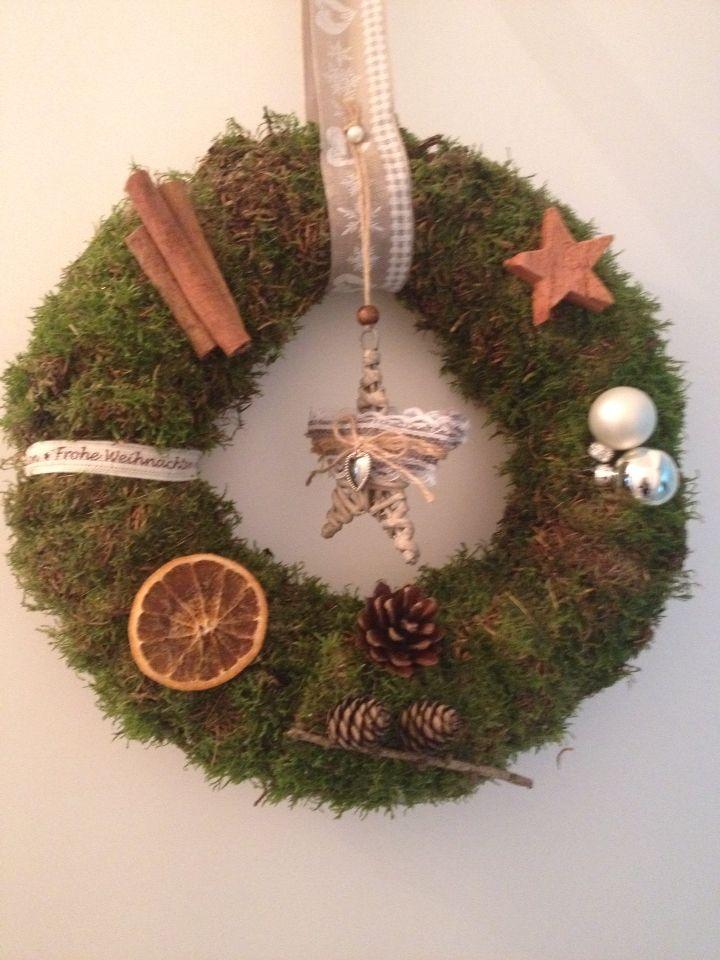 Weihnachtskranz für die Tür