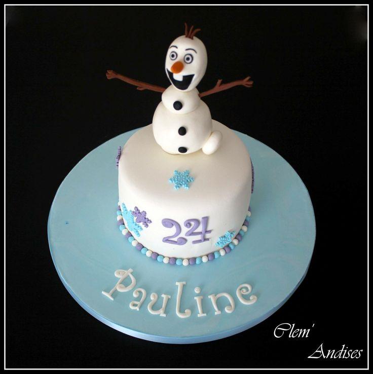 Gateau olaf reine des neiges  Olaf cake