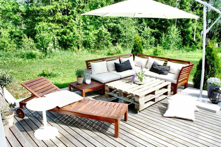 Terrace // garden // patio // ikea äpplarö // olivträd //