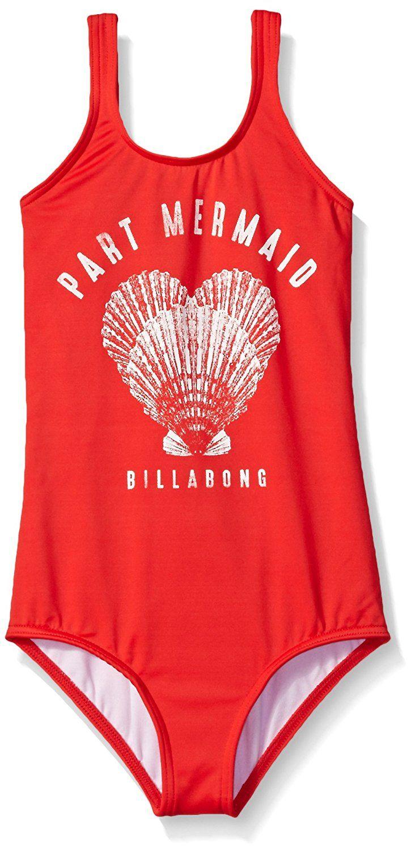64cc544630b7d Amazon.com: Billabong Big Girls' Sol Searcher One Piece Swimsuit, Red, 8:  Clothing