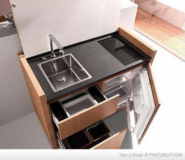 Mini Kitchens For Apartments: Micro Kitchen For Tiny Apartments