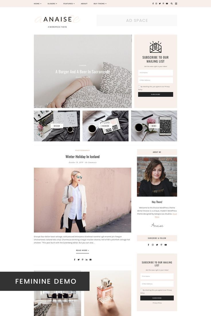 Wordpress Theme Responsive Anaise Wordpress Theme Web Design Inspiration Web Design Agency