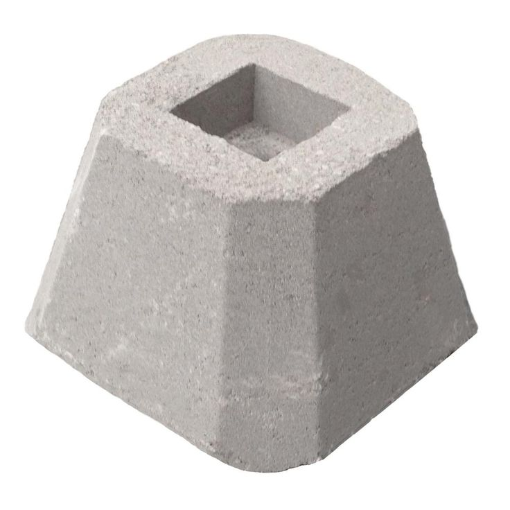 how to use concrete deck blocks for posts