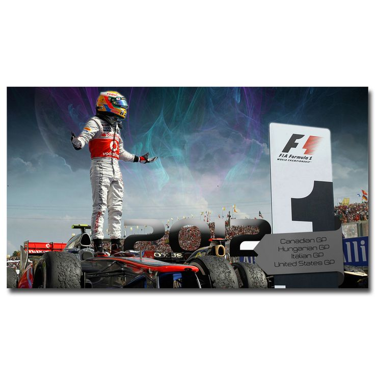 Lewis Hamilton Art Silk Fabric Poster Print 13x24 24x43inch Formula 1 World Championship Picture For Living Room Decoration 019 //Price: $9.79 & FREE Shipping //     #hashtag4