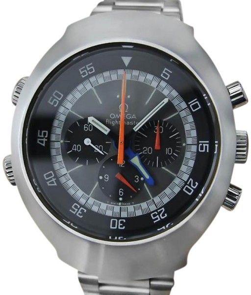 Omega Flightmaster Stainless Steel Vintage 43mm Mens Watch