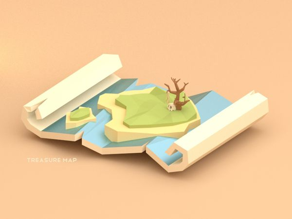 Low poly pirates! by Alex Pushilin, via Behance