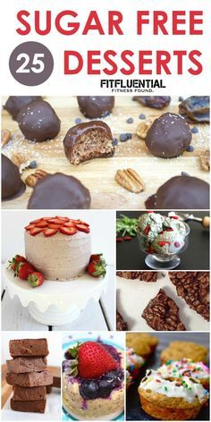 Sugar Free Dessert Recipes via @FitFluential #FitFluential #dessert #sugarfree