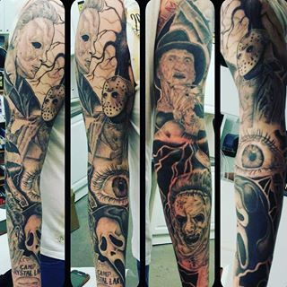 My horror sleeve, I am itching for more tattoos