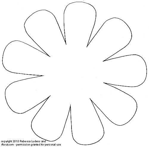 Free Printable Flower Patterns for Scrapbooking - Flower 6