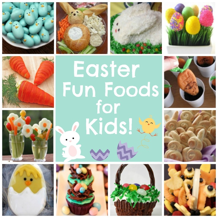 Over 15 fun #Easter food ideas for kids!