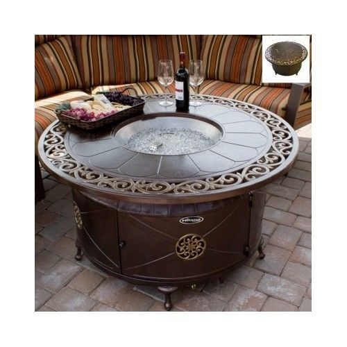 Round-Fire-Pit-Table-Outdoor-Fireplace-Patio-Furniture-Propane-Garden-Firepit