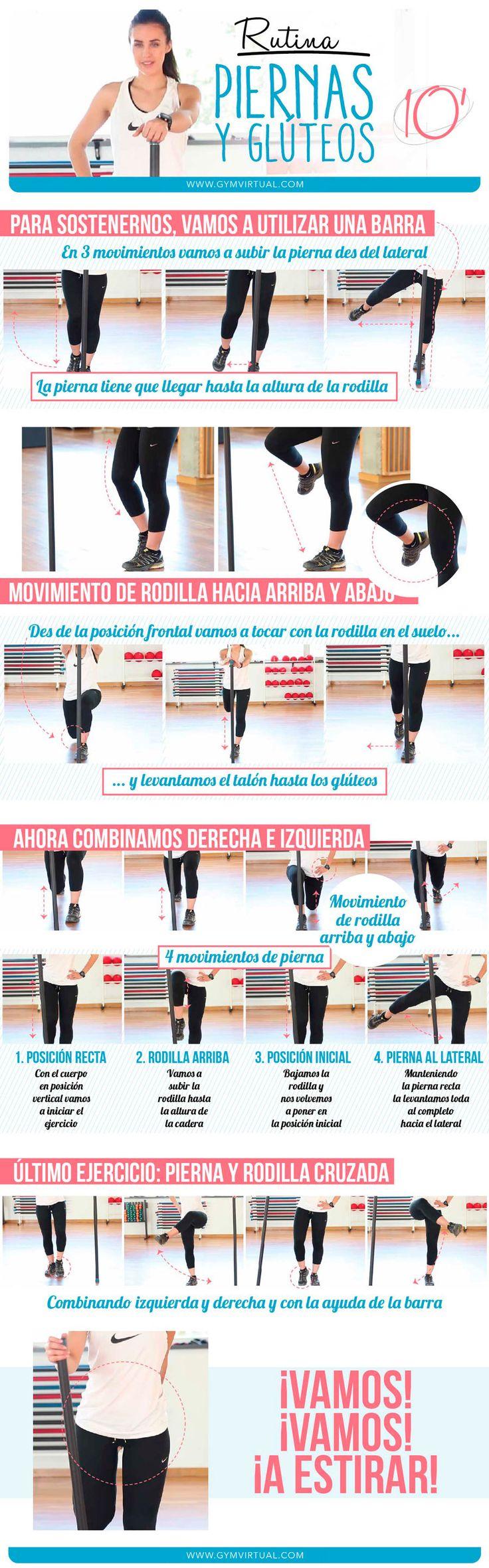 Rutina 10 minutos de ejercicios de piernas y glúteos paso a paso | GYM VIRTUAL