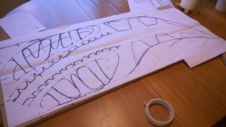 Footprints, sketch #1, summer 2014