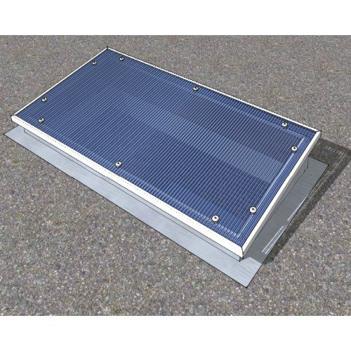 ILLUMI-THERM 1000x2000mm 25mm White Flat Roof Light - ILLUMI-THERM - Roof Domes and Sun Tubes