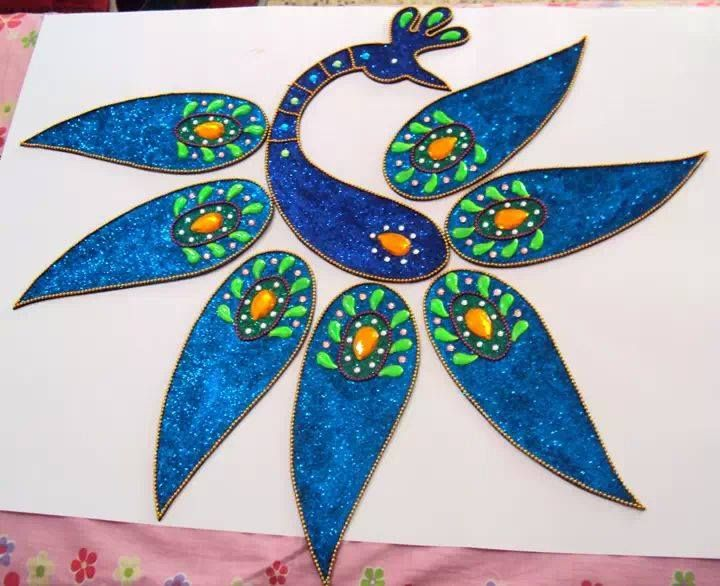 Snehal dongre fevicryl hobby ideas kundan rangoli for Crafts and hobbies ideas